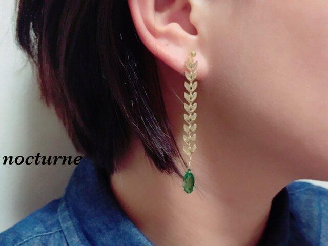 【14kgf】autumn leaf chain pierceの画像1枚目