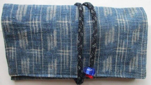 送料無料 麻の着物で作った和風財布・ポーチ 2842の画像1枚目