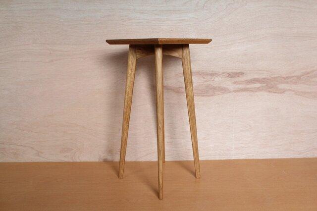 花台 飾り台・オーク材・台座は四角の画像1枚目