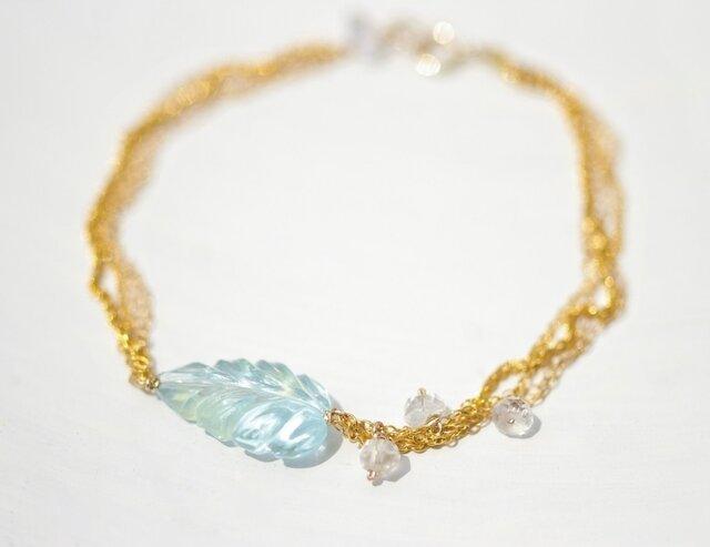 Bluetopaz×Herkimer diamond *Braceletの画像1枚目