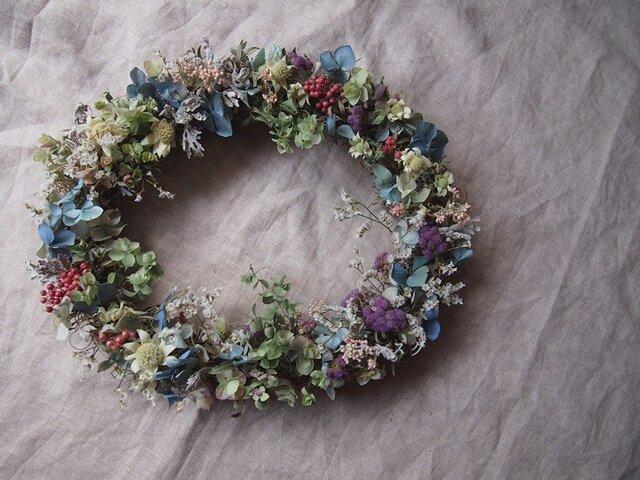 夢見る花たち*オーバルリースの画像1枚目