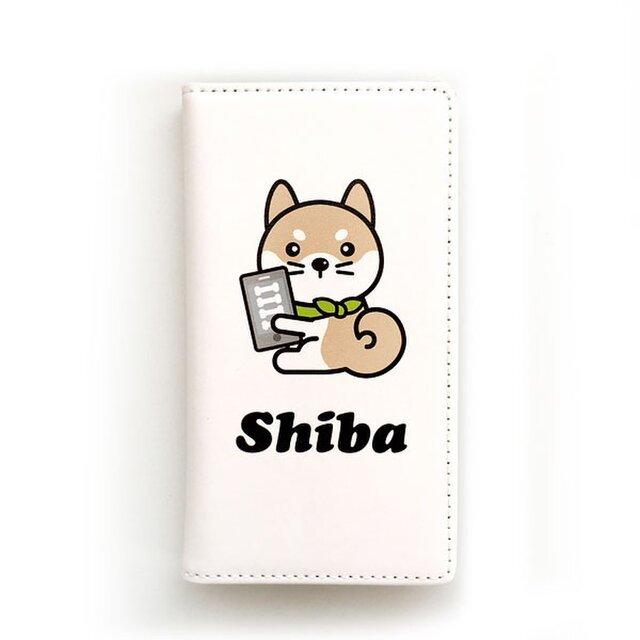 柴犬コレクション 柴犬スマホ手帳カバー 全機種対応スライドタイプ(Mサイズ)の画像1枚目