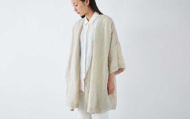 【送料無料】enrica linen coat / naturalの画像1枚目