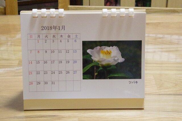 2018年版 卓上カレンダー(季節の花々1)の画像1枚目