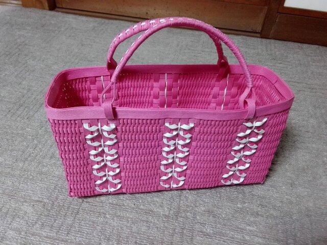 リボンいっぱいのバッグ(ピンク)の画像1枚目