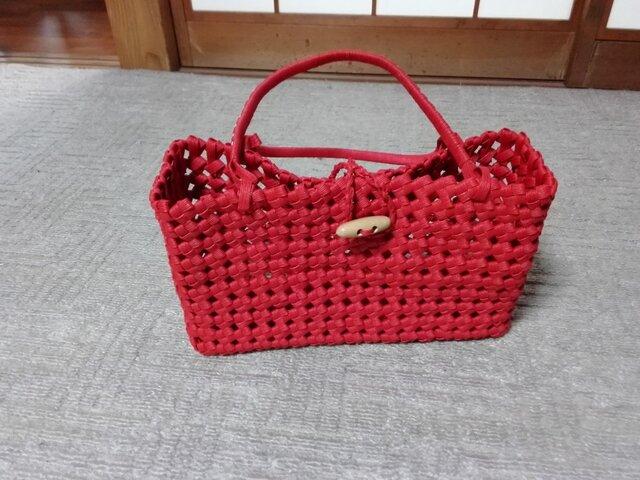石畳のバッグ(赤)の画像1枚目