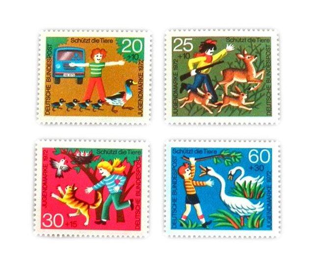 ドイツシリーズ切手(動物愛護)Germany DA-STE080の画像1枚目
