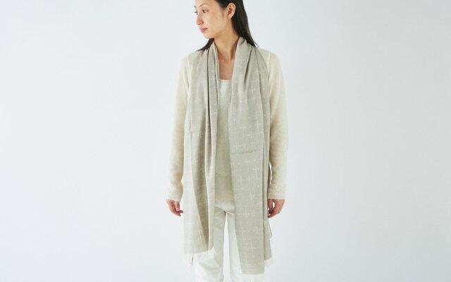 【sale】enrica organiccotton scarf / beigeの画像1枚目
