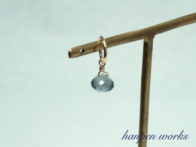 14kgf 3月の誕生石 宝石質 モスアクアマリン ネックレストップ チャームの画像1枚目