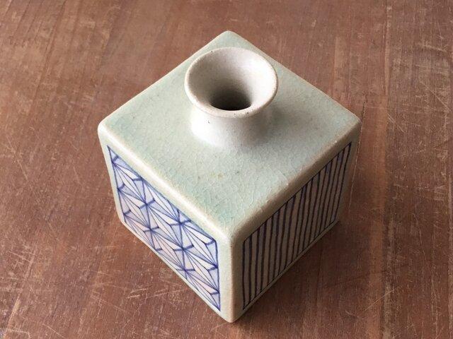 蕎麦徳利(染付幾何紋)の画像1枚目