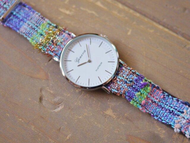 さをり織 オリジナルベルト時計の画像1枚目
