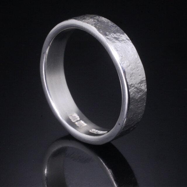 指輪 メンズ : 岩石丸鎚目リング 5mm幅 4~27号の画像1枚目