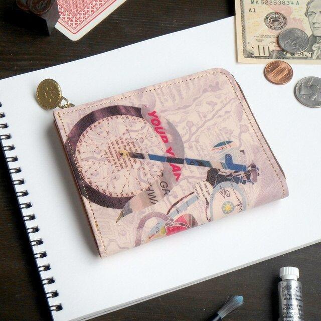 Lウォレット L字ファスナー 財布(レトロ バイク)オールレザー 革  メンズ レディース ILL-1157の画像1枚目
