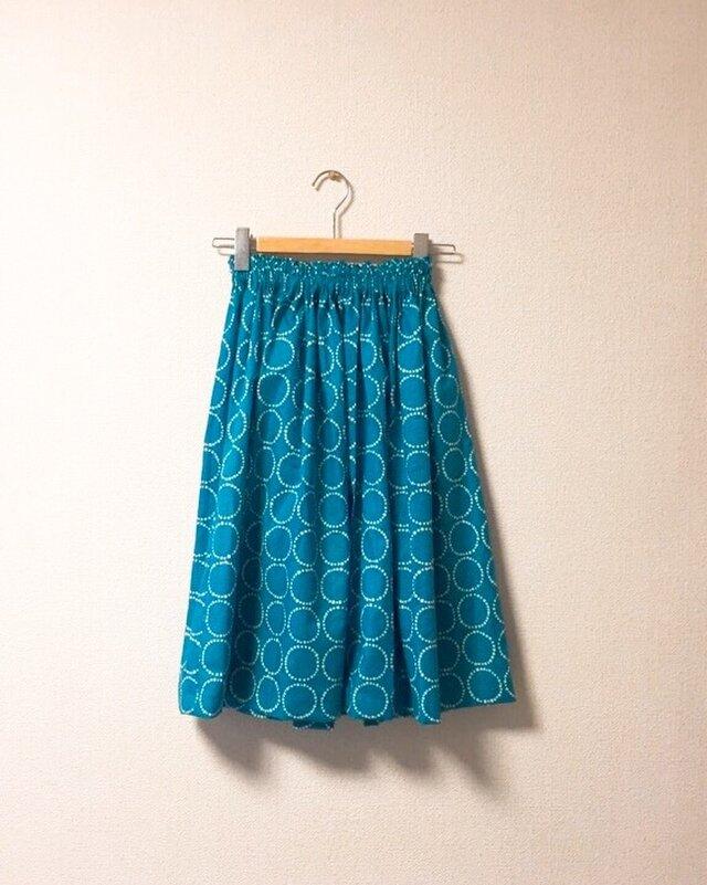 まんまる柄のギャザースカートの画像1枚目