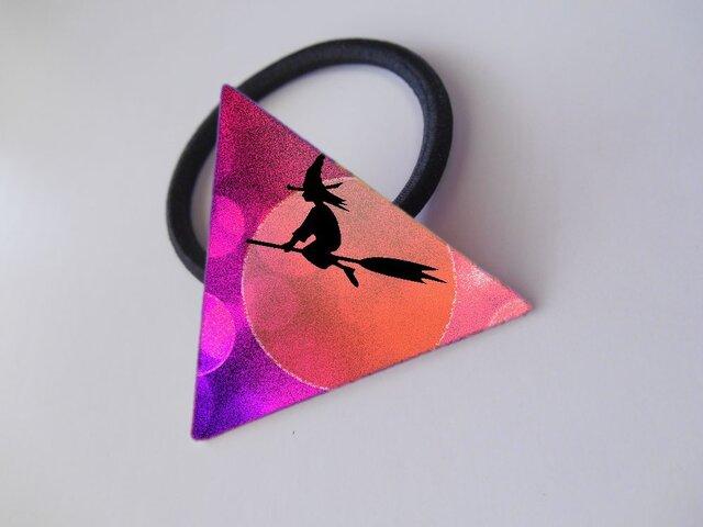アートヘアゴム(三角)(ハロウィン)【送料無料】の画像1枚目