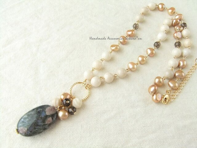 Necklace コングロメレイト(N1126)の画像1枚目
