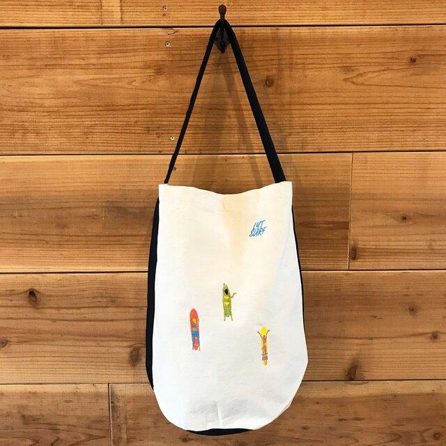 ゲティングアウトSURF 刺繍 バケツ型ワンショルダーバッグの画像1枚目