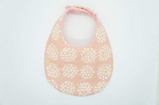 《ふんわり撥水スタイ》小花のブーケ・ピンクの画像1枚目
