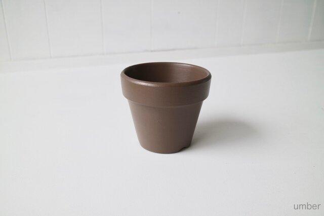 テラコッタ 鉢 -アンバー 4号-の画像1枚目