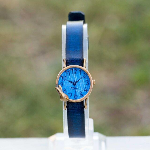 夢みるうさぎ腕時計S深青の画像1枚目