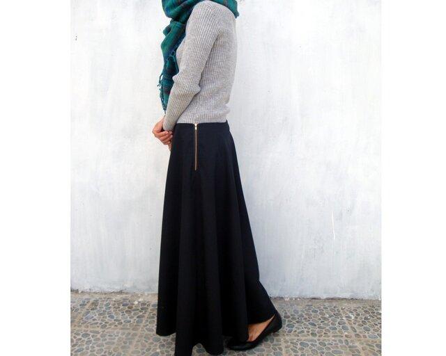 フレアスカート ブラックの画像1枚目