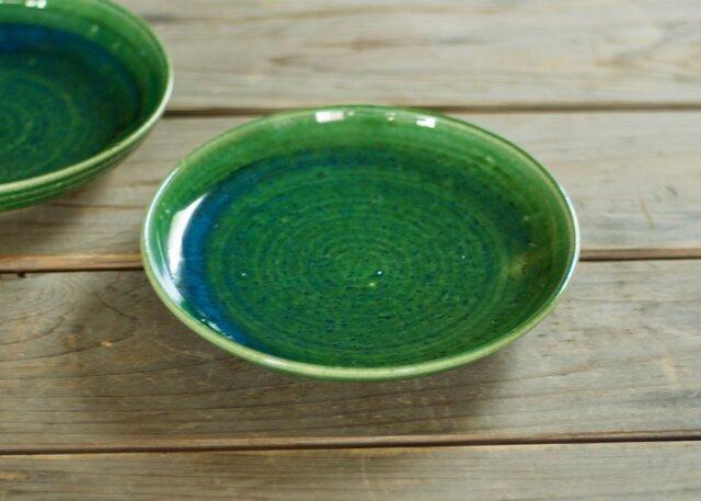 なます皿(6寸/緑)の画像1枚目
