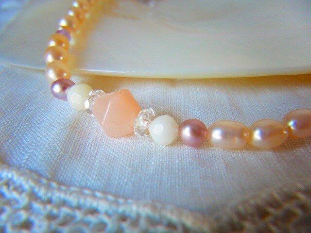 ピンクの真珠 羽織紐の画像1枚目
