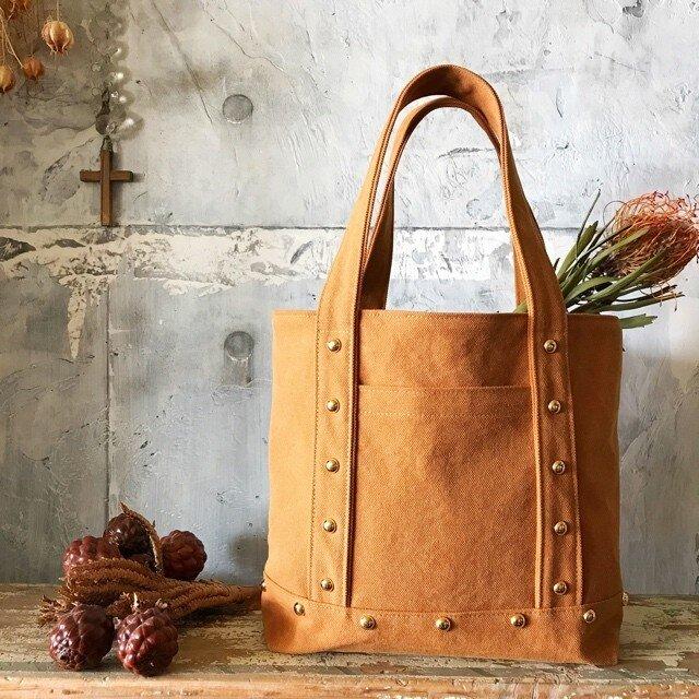 canvas tote bag medium (camel)の画像1枚目