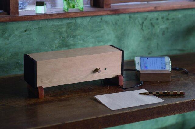 天然木製 小型スピーカー 【Ki・Ki】の画像1枚目