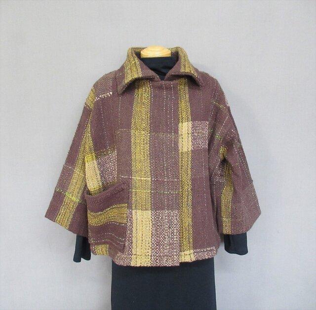 手織り茶色ジャケット *送料無料*の画像1枚目