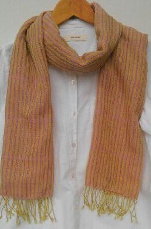 手織りやわらかストールの画像1枚目
