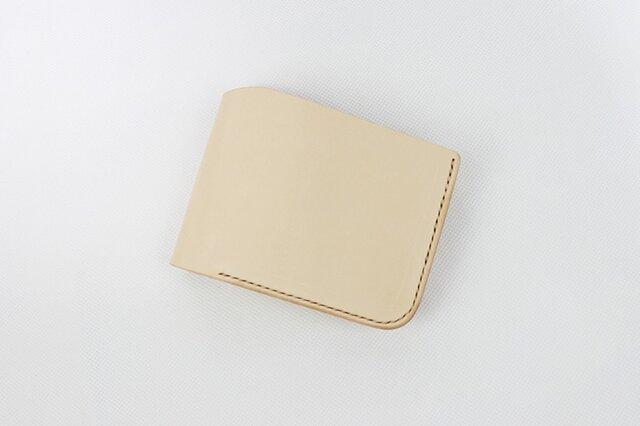 日本製 名入れ可能・本革手つくり手縫い 二つ折り財布 コイン入れ付き縦の画像1枚目