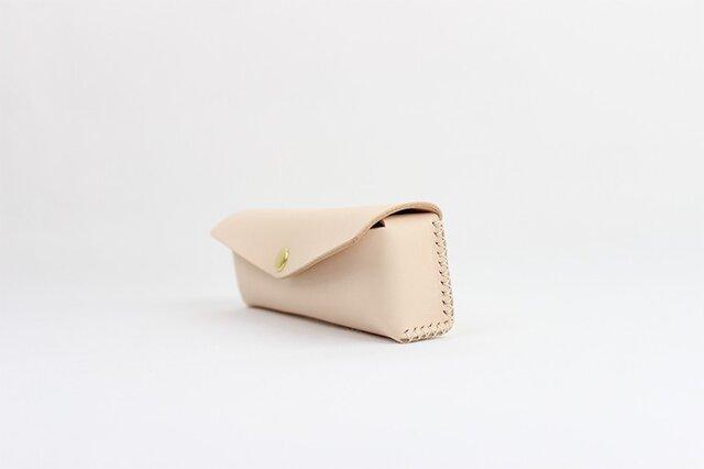 日本製 名入れ可能・本革手つくり手縫いペンケースの画像1枚目
