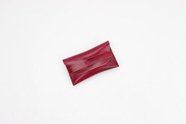 日本製 名入れ可能・本革手つくり手縫い 名刺入れの画像1枚目