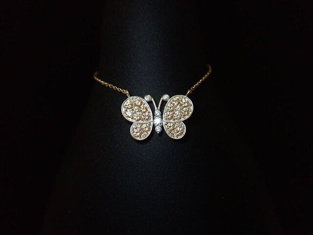 K10YG Papillon Necklace - 蝶々 -の画像1枚目