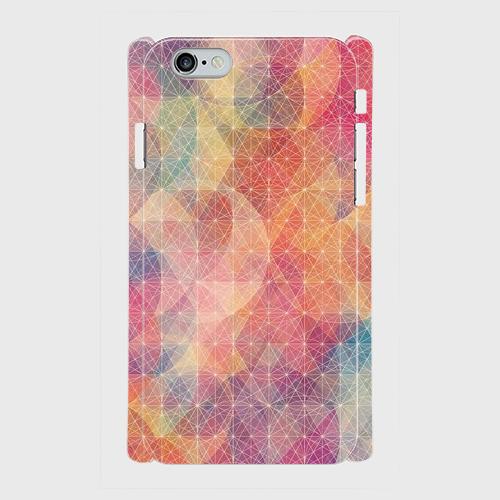 プリズム パターン 波紋 スマホケース iphone 5/5s/6/6s/SE/7専用 ハードケースの画像1枚目