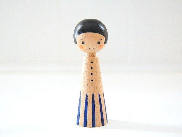 [conocokeshi]指人形・hand puppet[14]紺青ワンピの画像1枚目