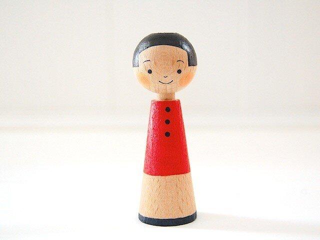 [conocokeshi]指人形・hand puppet[15]赤藍の画像1枚目