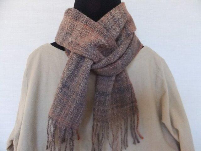 手紡ぎ手織りマフラー #2の画像1枚目