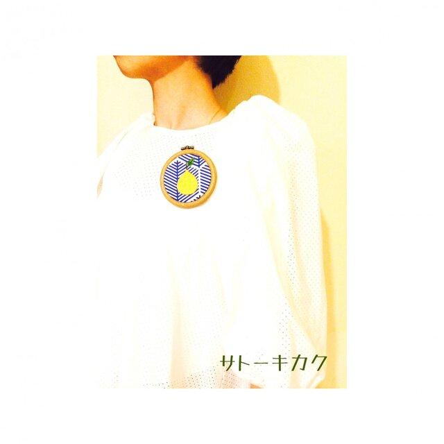 *刺繍ブローチ*(デコポン)【送料無料】の画像1枚目