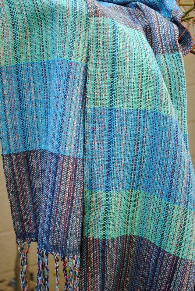 シルク手織マフラー3の画像1枚目