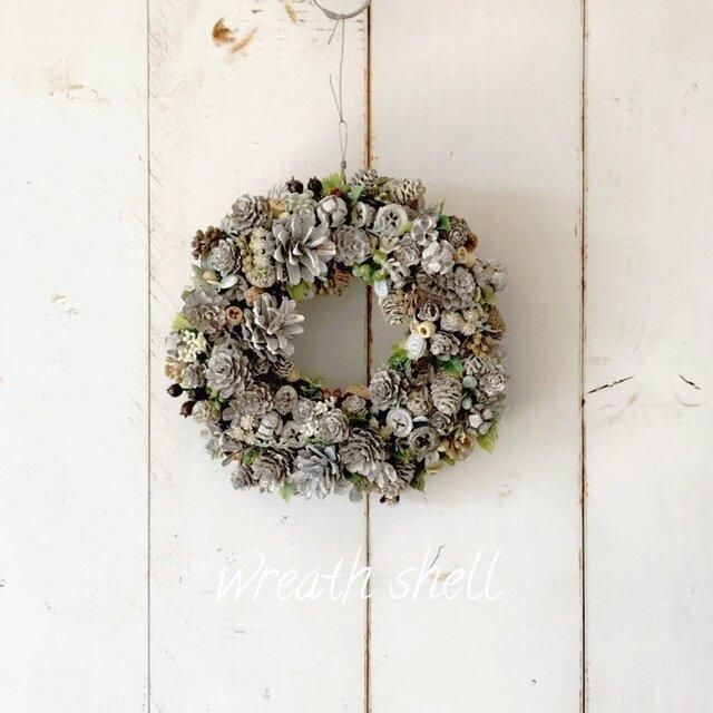 Dry materials wreath ・ナッツいっぱいの画像1枚目