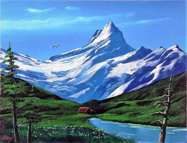 残雪の山の画像1枚目