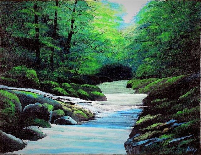 暗い渓流の画像1枚目