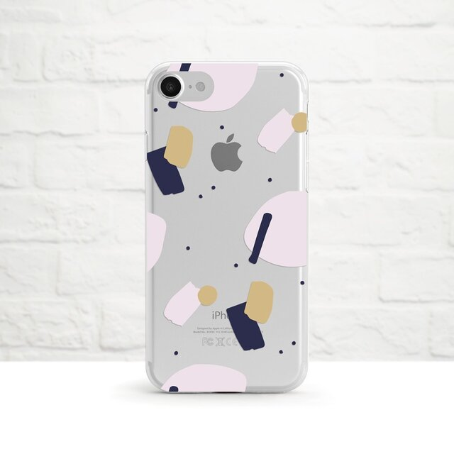 Pastel Collage 2 iPhone クリアソフト ケースの画像1枚目