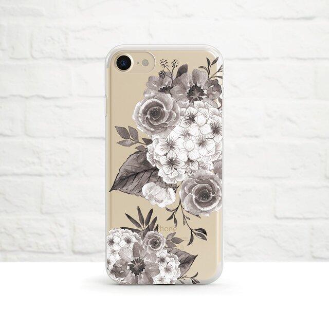 Floral iPhone クリアソフト ケースの画像1枚目