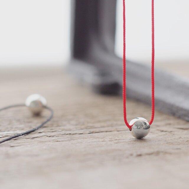 String ボール ネックレス シルバー925の画像1枚目