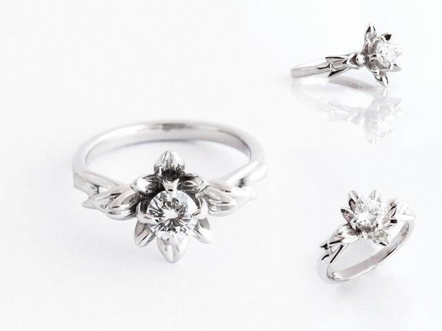 CorinthianEngagemet Ring コリンシアン婚約指輪 0.42ctダイヤモンドの画像1枚目