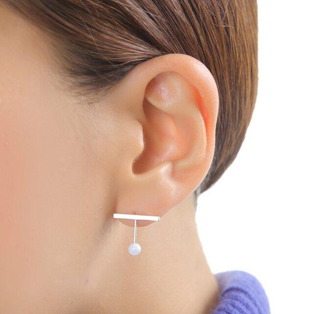 Silver Half Pierced earringの画像1枚目