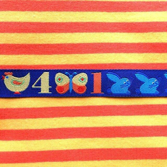 ドイツファーベミクス 刺繍リボン 1m-数字123 ブルーの画像1枚目